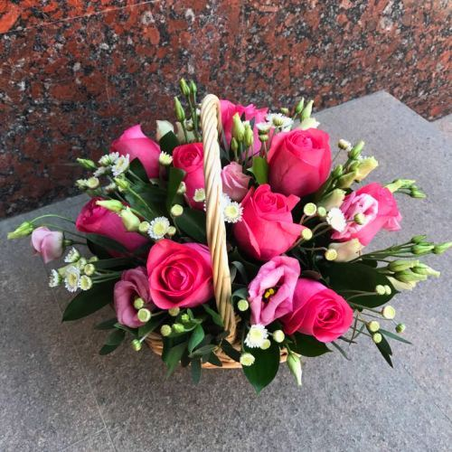№216 корзина с розами