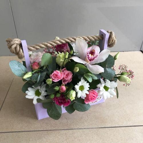 №257 ящик с орхидеей