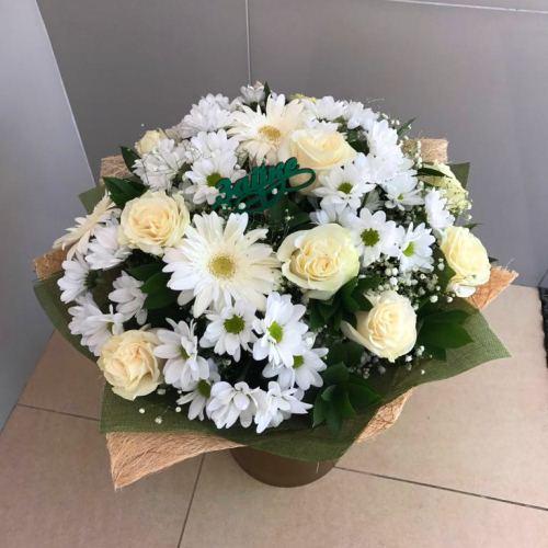 №217 букет с розами и герберами